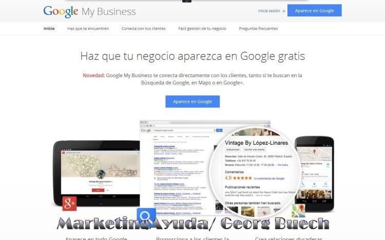Cómo crear una página en Google My Business