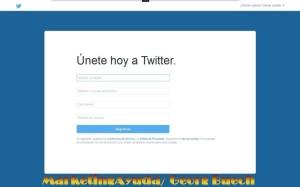 Registro de cuenta de empresa de turismo rural en Twitter
