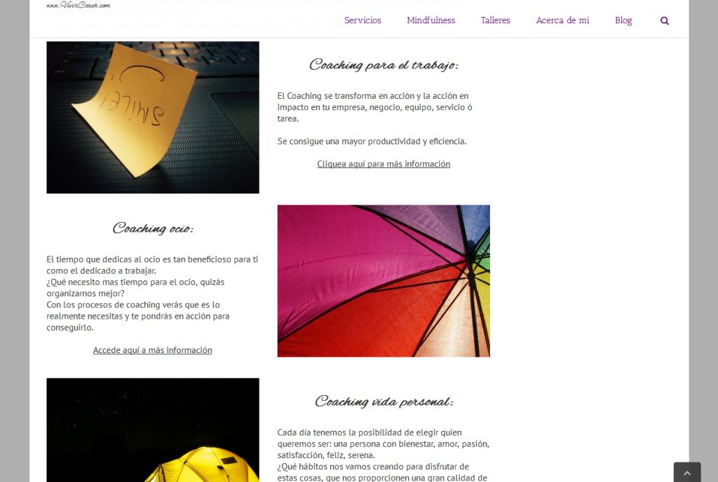 Reseña web VivirCoach para portafolio MarketingAyuda