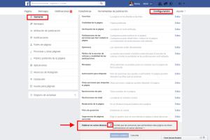 Cómo configurar Facebook página para posts en diversos idiomas
