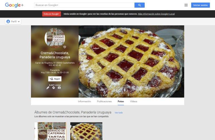 Página de empresa en Google Plus