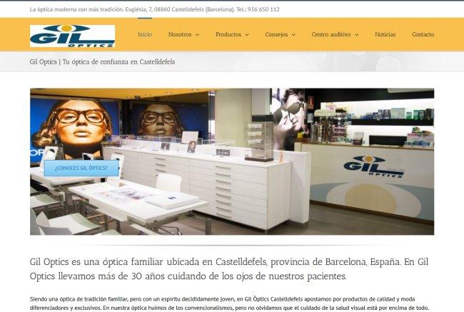Rediseño responsive sitio web de Óptica en Castelldefels