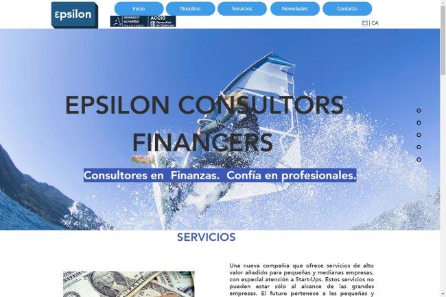 Antiguo sitio web de Epsilon Consultors Financers, Sant Cugat del Valles