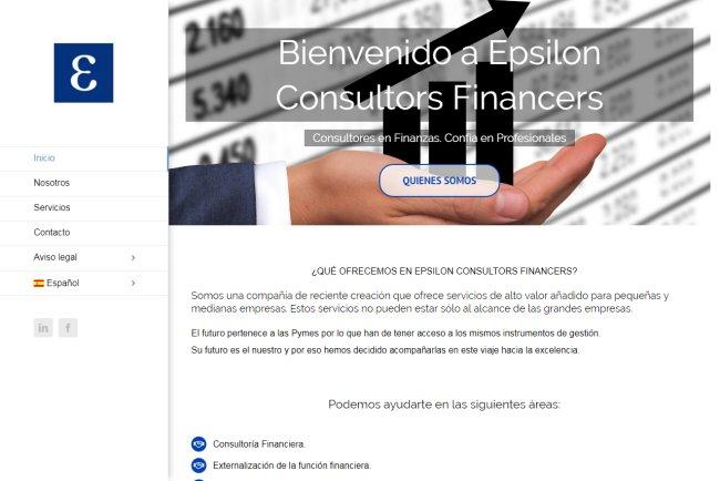 Diseño página web multilingüe Epsilon Consultors Financers