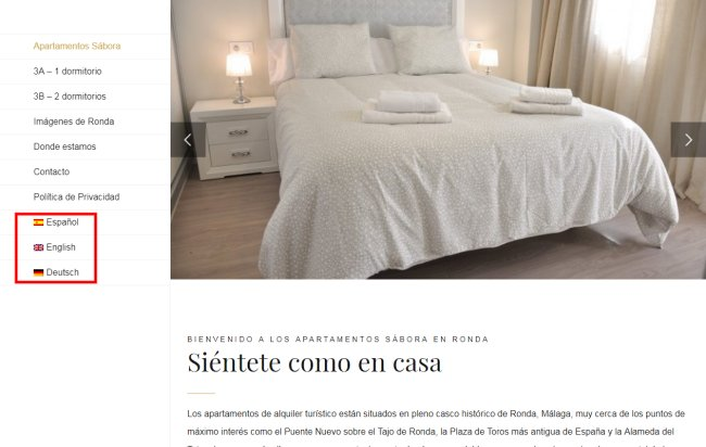 Diseño web apartamentos turísticos en Ronda